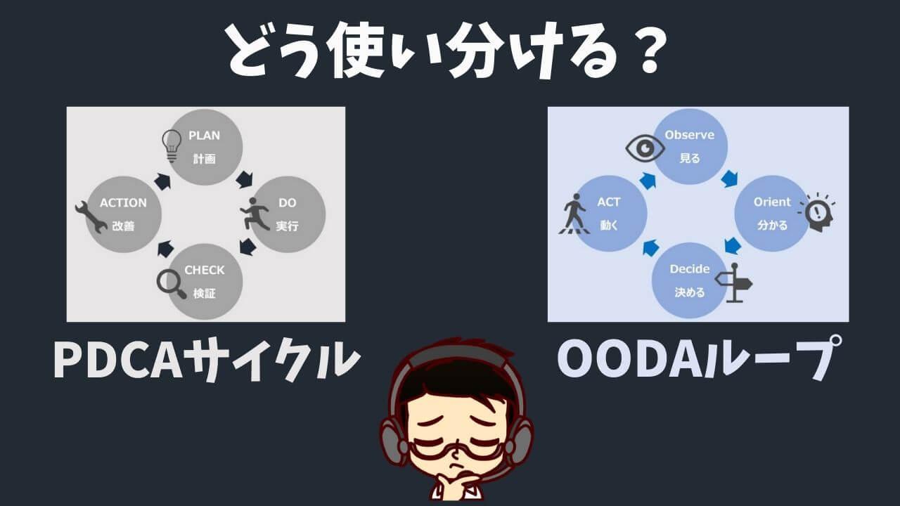 コールセンターでPDCAサイクルとOODAループってどう使い分ける?